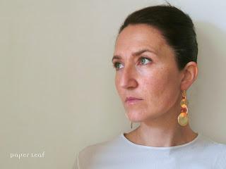 orecchini di carta  paper earrings
