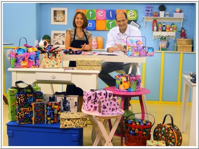 Toke e Crie Fotos dos Programas Ateli u00ea na TV e Arte Brasil com nossa parceira Claudia Wada