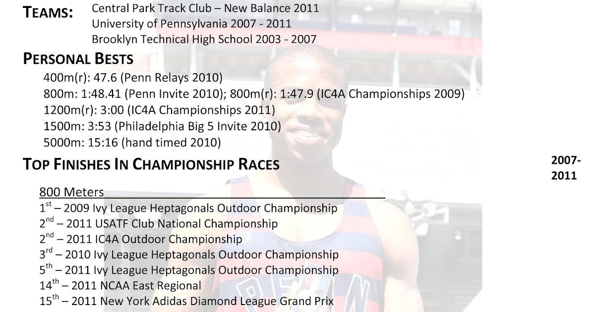darryll oliver  athletic resume