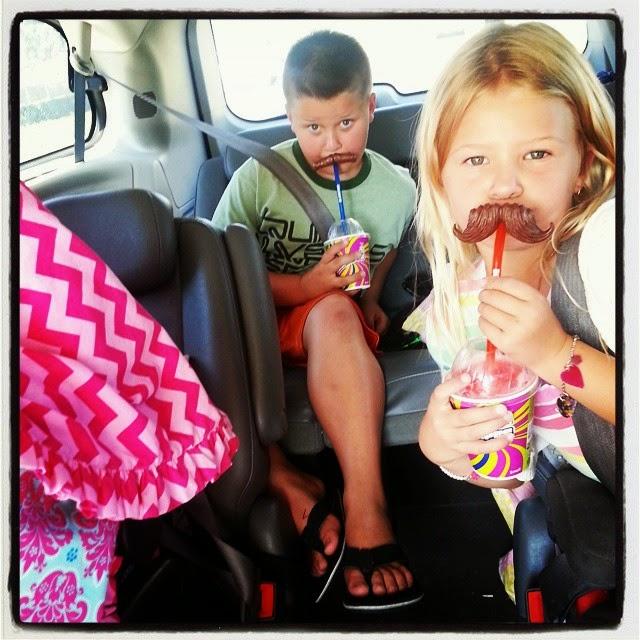 slurpee mustache straw
