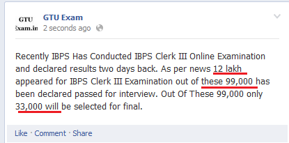 how many selected in IBPS Clerk exam III 2013