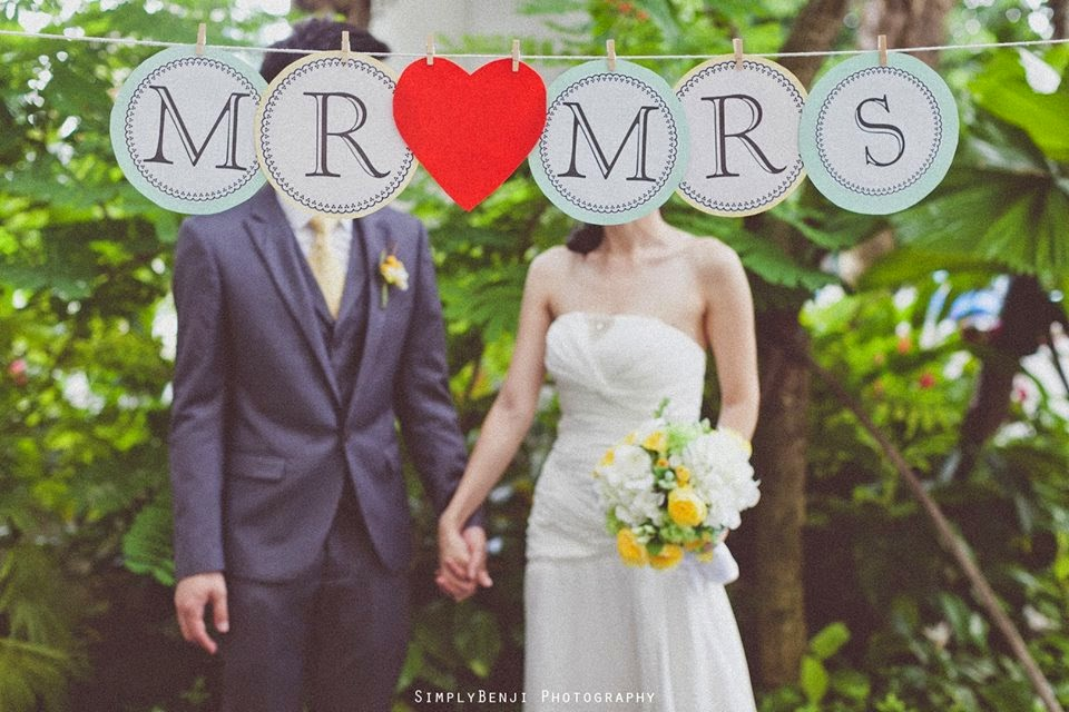 bride groom holding hand mr mrs