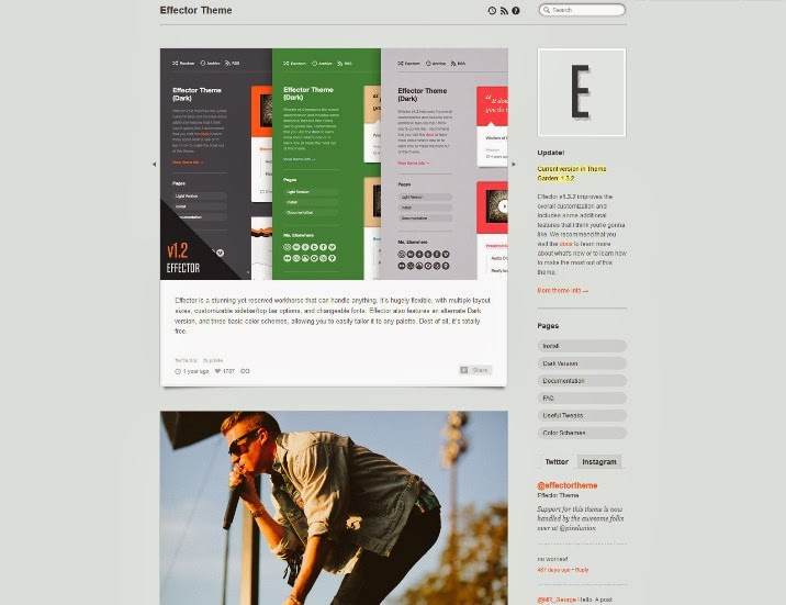 Effector Free Tumblr Theme