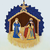 Christ Nativity Wall Hanging