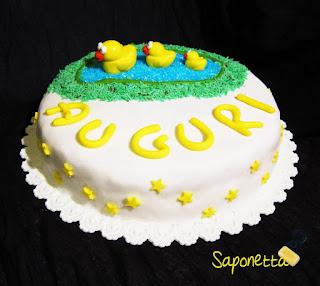 pasta di zucchero torta paperelle