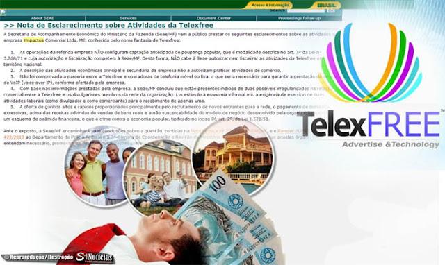 Seae/MF esclareci as atividades da Ympactus Comercial Ltda. ME, conhecida pelo nome fantasia de Telexfree