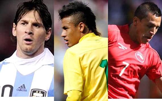 Messi, Neymar y Alexis