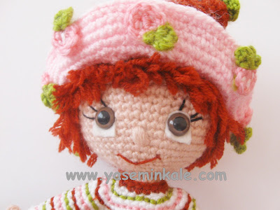 amigurumi çilek kız, amigurumi Strawberry Girl