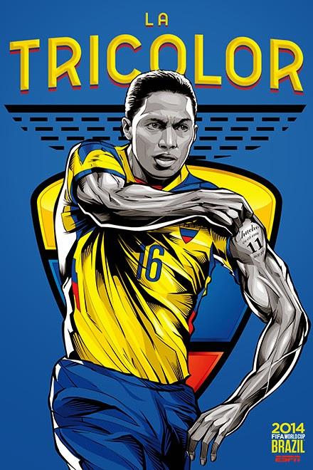 Poster keren world cup 2014 - Ecuador