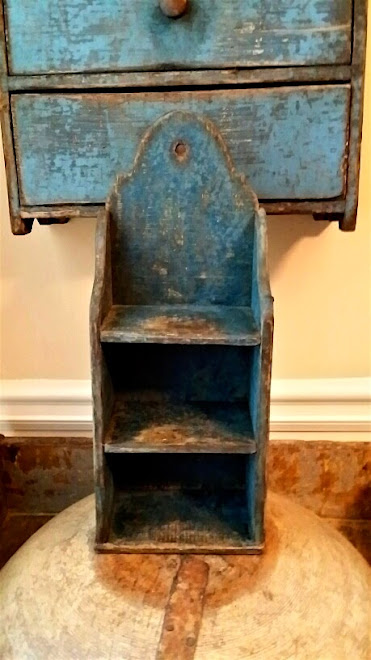 Reproduction Blue Hanging Shelf - This one is SOLD but can be ordered.