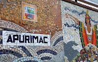 'Apurímac' en el mural de la Av. Salaverry en homenaje a la visita de Juan Pablo II