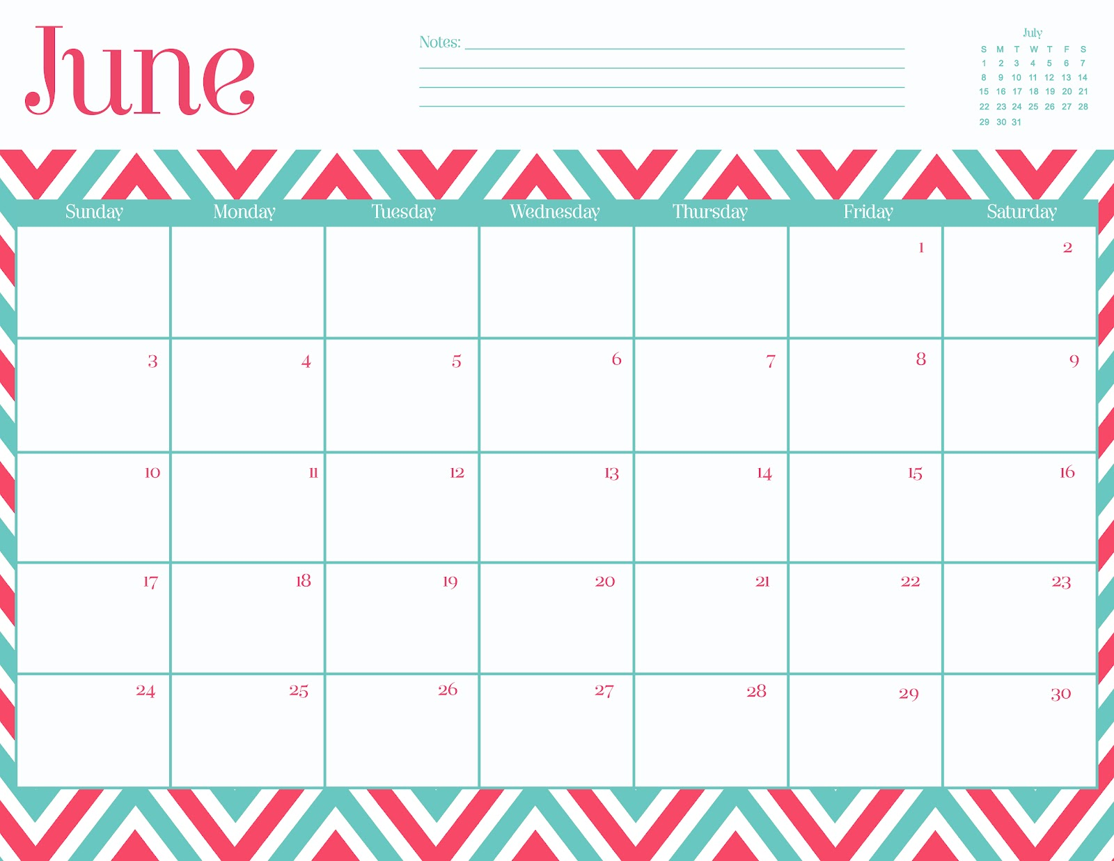 Oh So Lovely: Free June 2012 Calendar Printables