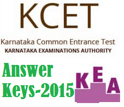 Karnataka CET (KCET) 2015 Answer Key