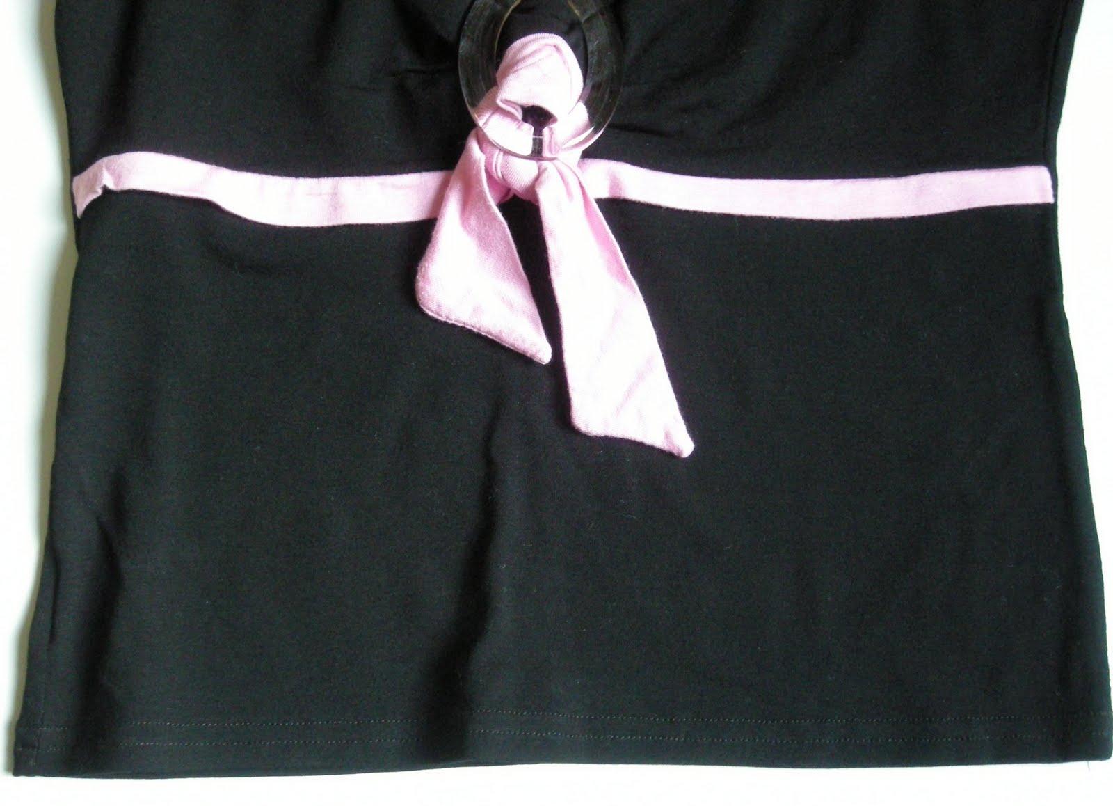 haut soirée pas cher dans vide dressing de Flora : RECTANGLE BLANC - Haut noir et rose - T2 - NEUF