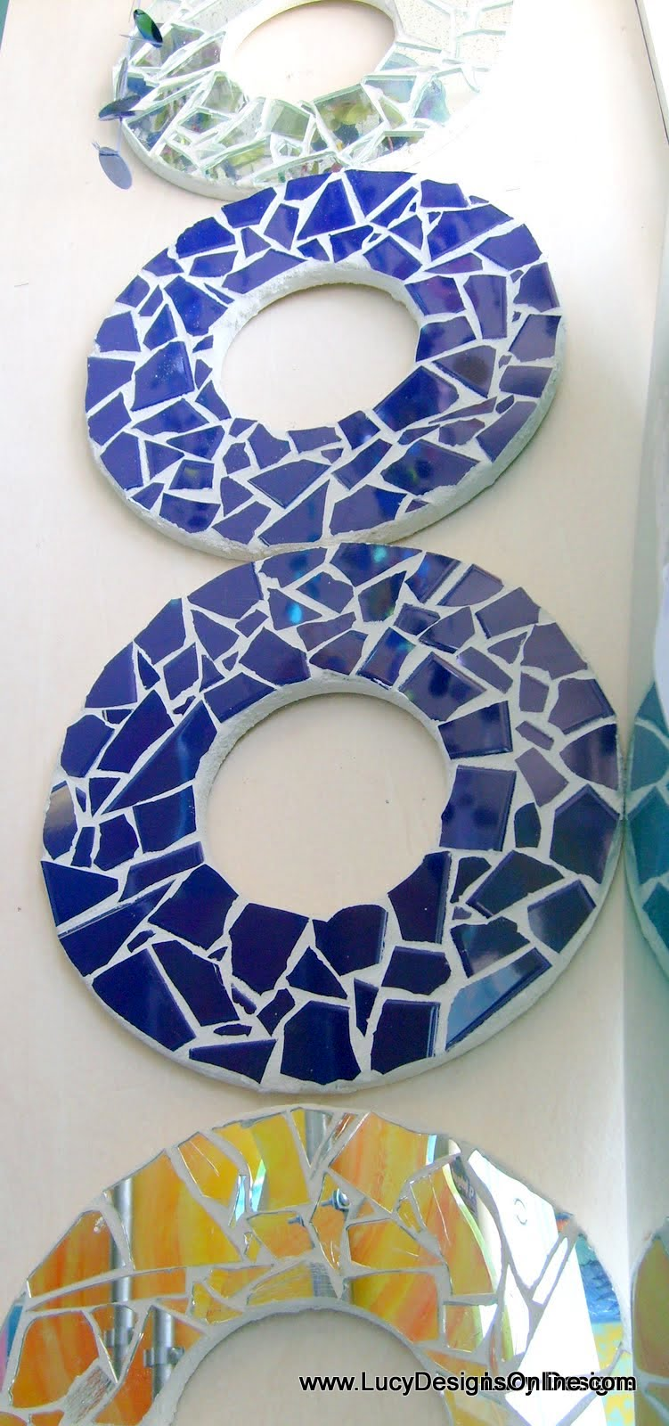 ceramic tile mosaic circle wall art