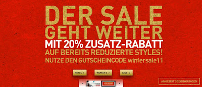 Puma-Sale: 20 Prozent Rabatt mit Gutschein-Code wintersale11 auf bereits reduzierte Produkte