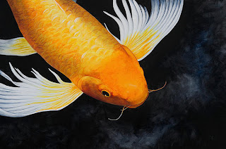 Crowned Koi Painting