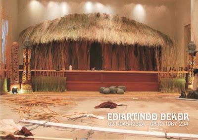 Dekorasi Rumah Papua Bahan Dasar Styrofoam