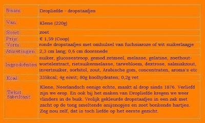 Dropliefde: Dropstaafjes