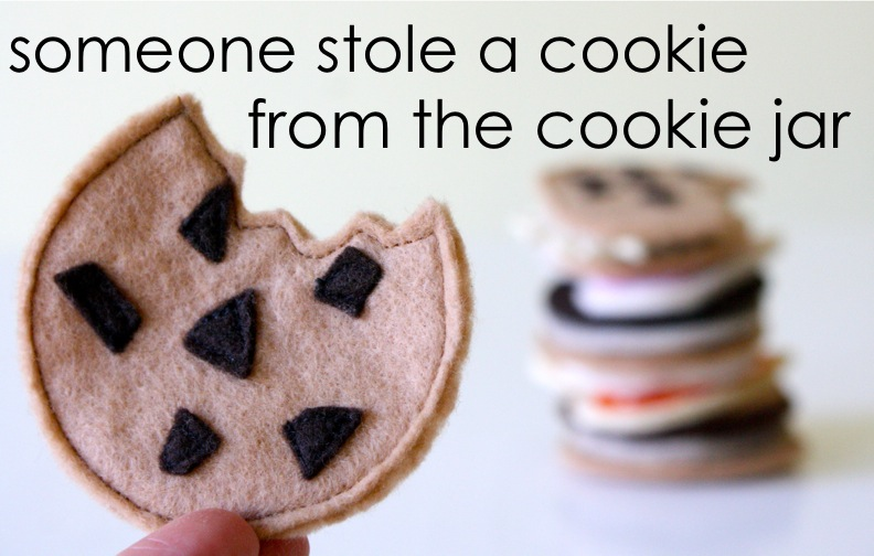 Who Stole The Cookie From The Cookie Jar Book Awesome Felt Cookies MADE EVERYDAY