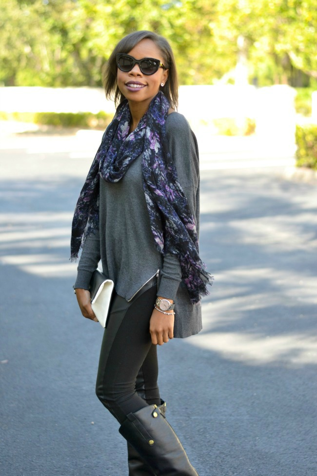 Monochrome | Fall Outfit Ideas | Zip Sweater