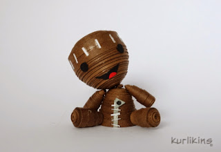 3D quilling Sack Boy Little Big Planet