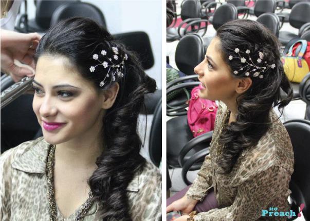 penteado de noiva - cabelo de lado
