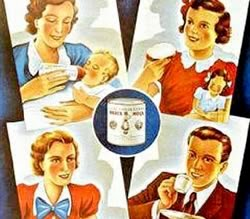 Propaganda do Leite Moça nos anos 40. Produto indicado para toda família.