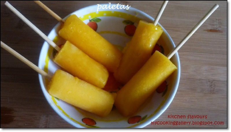 kitchen flavours: Paletas (Mexican Fruit Pops) : IHCC