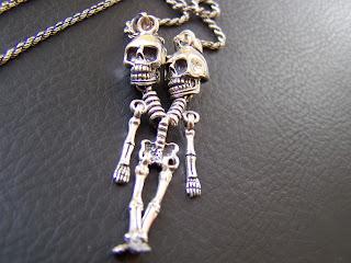 skull,skeleton,silver,pendant,etsy,men jewelry,lovers