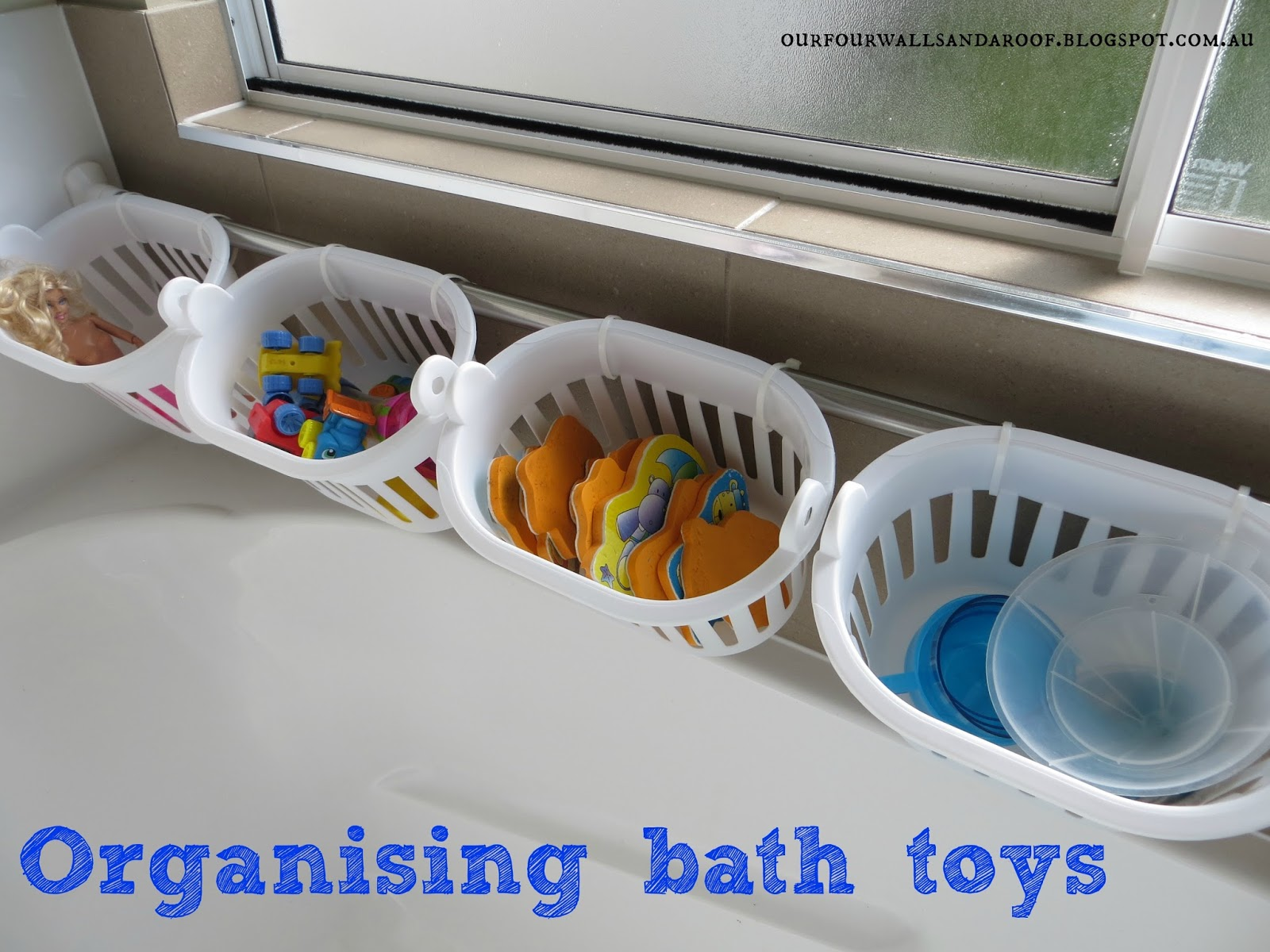 OUR FOUR WALLS AND A ROOF BATH TOY ORGANISATION