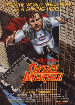 El retorno del Capitán Invencible, Christopher Lee, Alan Arkin, Philippe Mora, The return of captain invincible