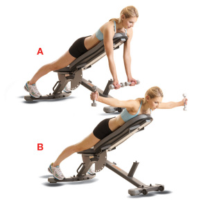 reverse incline bench flyes