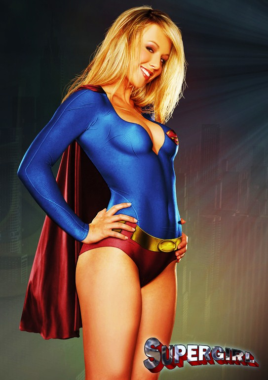 Body Supergirl Sexy Hot Cosplay Paint