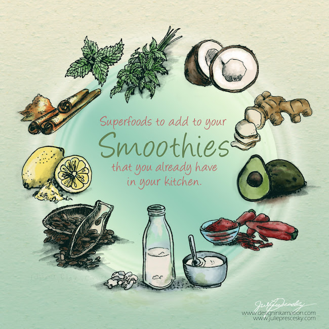 Superfoods Illustration for BlendTec