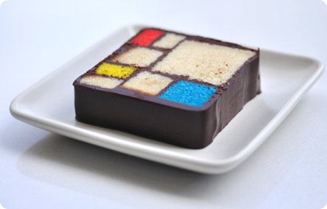 Step-by-step Mondrian Cake