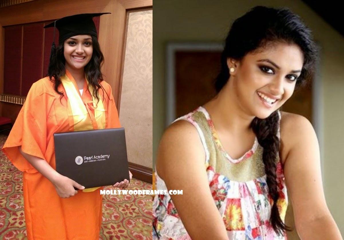 Keerthi Suresh completed her graduation studies