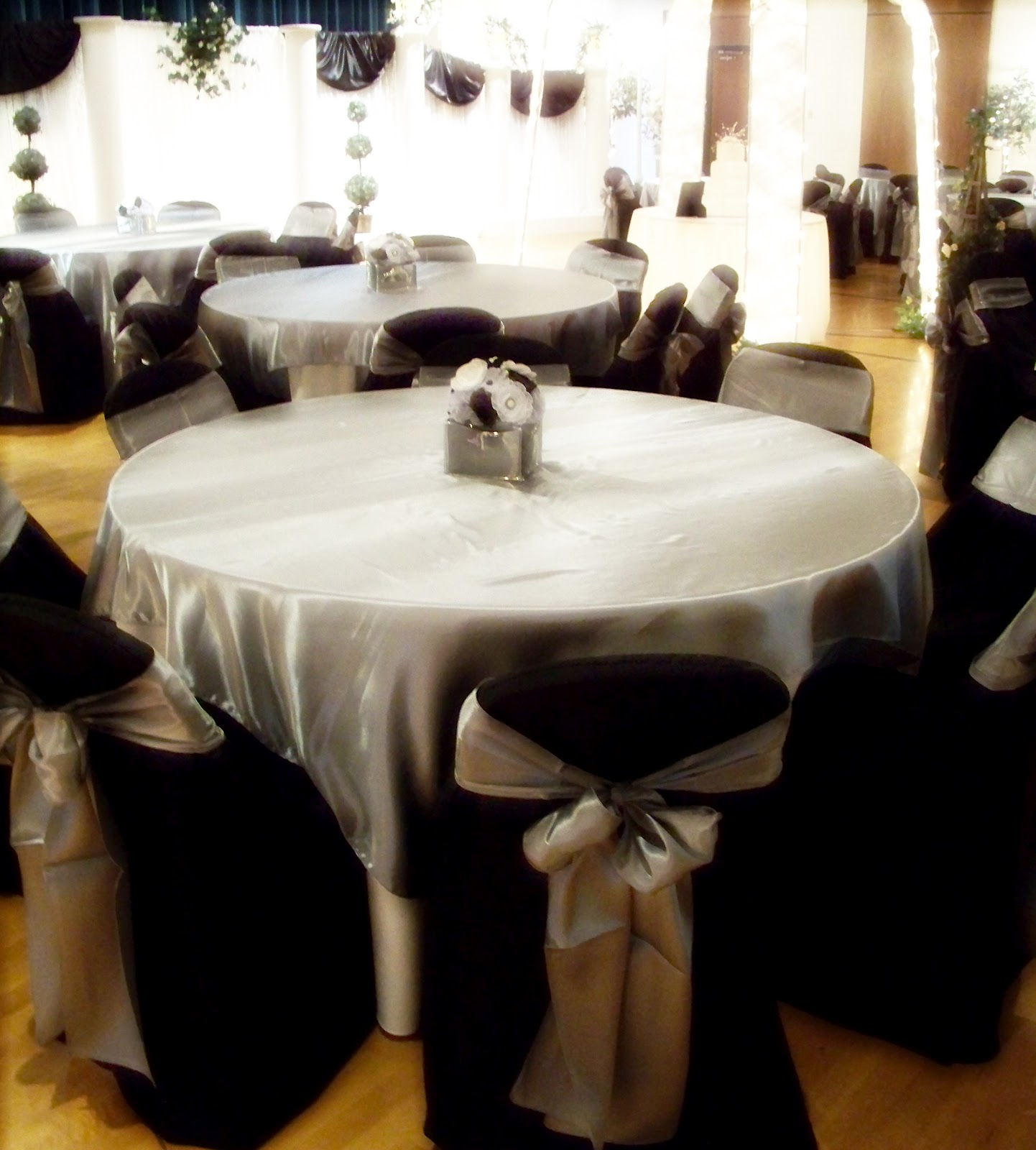 Simply Enchanting Event: Black, White & Silver Wedding Decoration