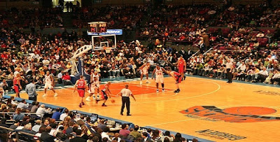 BASQUETE EM NEW YORK = NY KNICKS NO MADISON SQUARE GARDEN