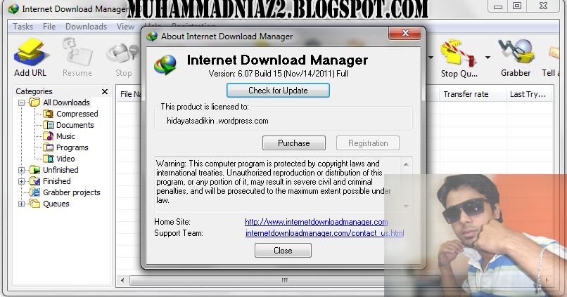 muhammad niaz  internet download manager 6 07 build 7 full