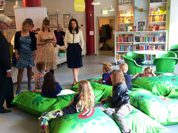 Crown Princess Mary attended the opening of the Danish children's libraries common reading campaign Sommerbogen (The Summer Book 2015)