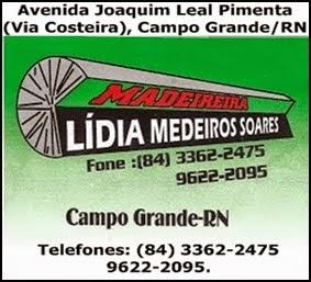 Madeireira Lídia Medeiros Soares - Campo Grande/RN