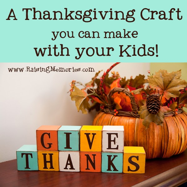 Give Thanks Decorative Thanksgiving Blocks by www.RaisingMemories.com #shop