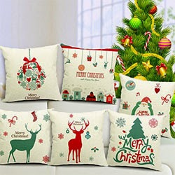 Christmas Series Cotton Linen Pillowcase