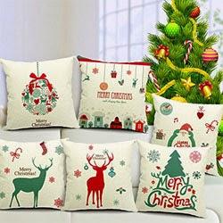 Christmas Series Cotton Linen Pillowcase