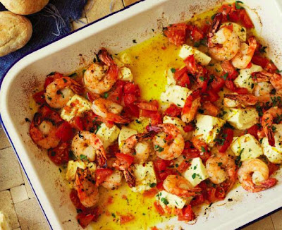 Baked Prawns with Lemon and Feta