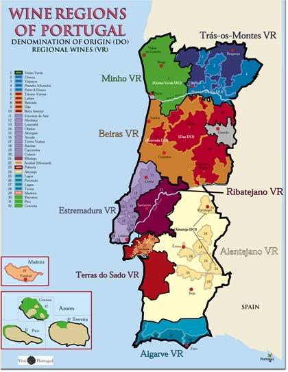 Portugal Vineyards Map - Portugal map minho