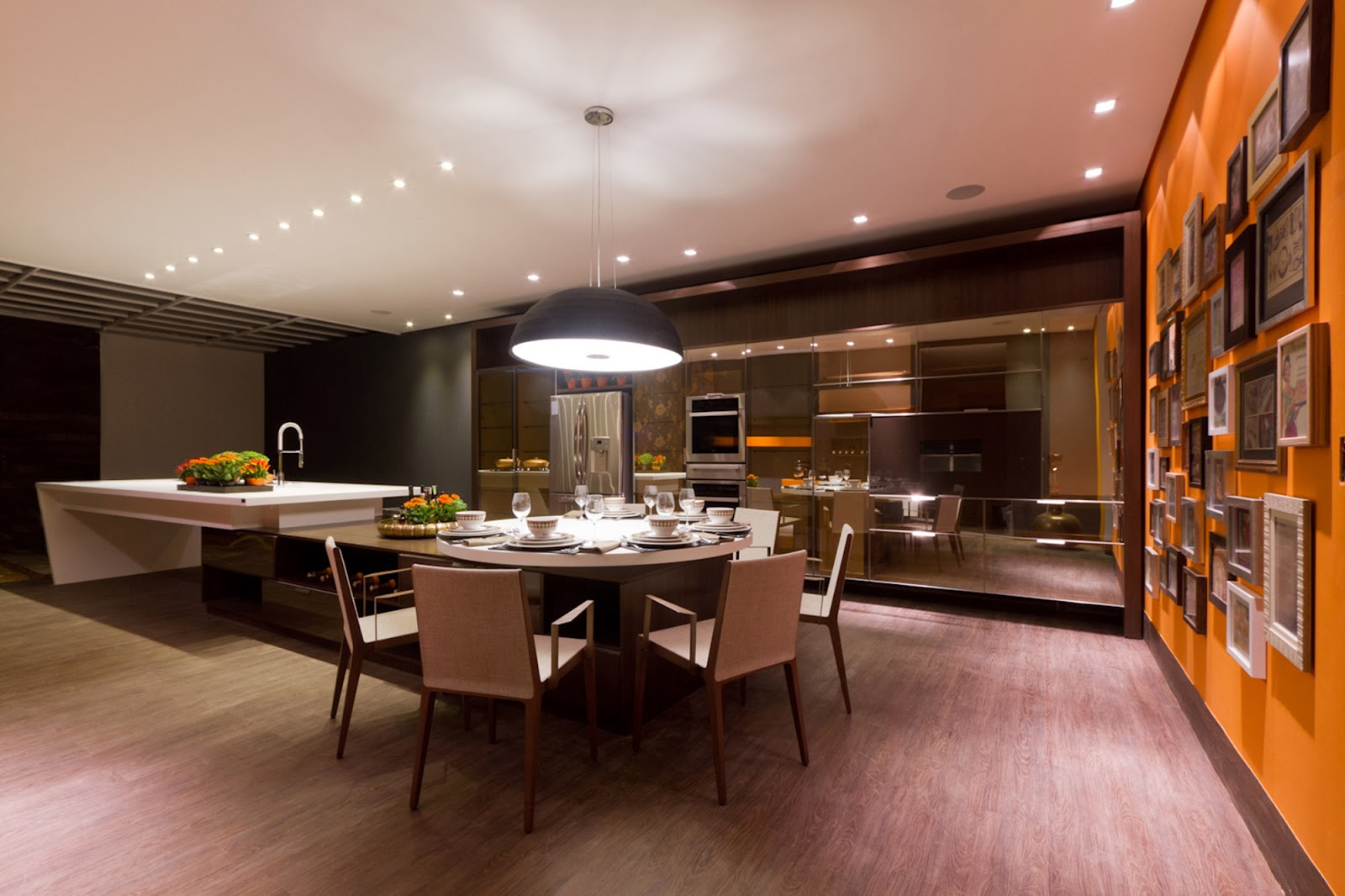 cozinha de hoje estão cada vez mais integradas com o Ambiente Social #B55104 1600 1066