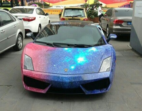 Spaced Out Wrap Turns Lamborghini Gallardo Into A Galaxy