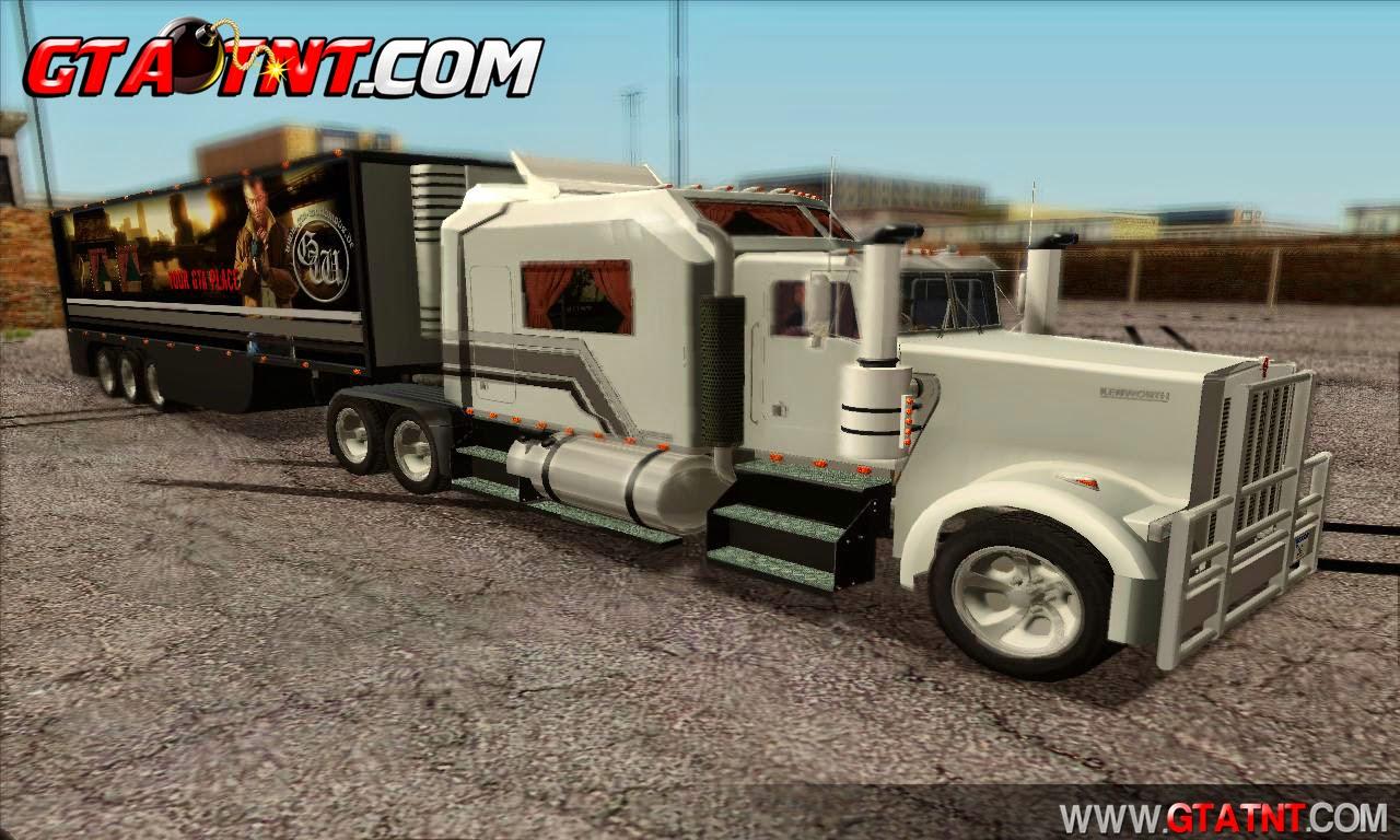 Kenworth W900L & Trailer para GTA San Andreas